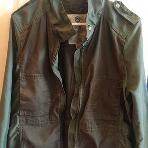 Lucky Brand Army Green Military Coat